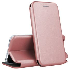 """Rožinės-auksinės spalvos atverčiamas dėklas Huawei P10 Lite """"Book Elegance"""""""