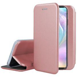"""Rožinės-auksinės spalvos atverčiamas dėklas Huawei P30 """"Book Elegance"""""""