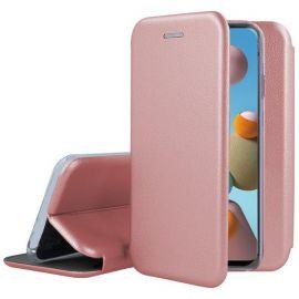 """Rožinės-auksinės spalvos atverčiamas dėklas Samsung Galaxy A217 A21s """"Book Elegance"""""""