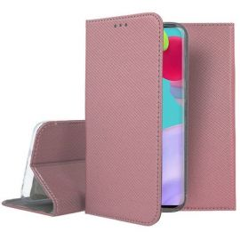 """Rožinės-auksinės spalvos atverčiamas dėklas Samsung Galaxy A525 A52 / A526 A52 5G """"Smart Magnet"""""""