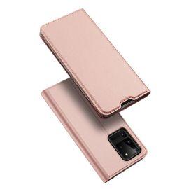 """Rožinės-auksinės spalvos atverčiamas dėklas Samsung Galaxy G998 S21 Ultra """"Dux Ducis Skin Pro"""""""