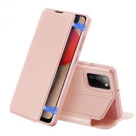 """Rožinis atverčiamas dėklas Samsung Galaxy A025 A02s """"Dux Ducis Skin X"""""""