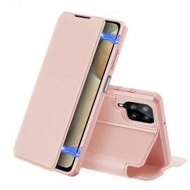 """Rožinis atverčiamas dėklas Samsung Galaxy A125 A12 """"Dux Ducis Skin X"""""""