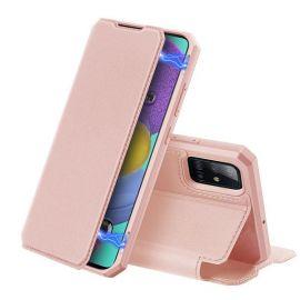 """Rožinis atverčiamas dėklas Samsung Galaxy A515 A51 """"Dux Ducis Skin X"""""""