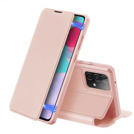"Rožinis atverčiamas dėklas Samsung Galaxy A525 A52 / A526 A52 5G ""Dux Ducis Skin X"""
