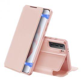 """Rožinis atverčiamas dėklas Samsung Galaxy G996 S21 Plus 5G """"Dux Ducis Skin X"""""""