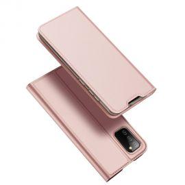 """Rožinis-auksinis atverčiamas dėklas Samsung Galaxy A025 A02s """"Dux Ducis Skin Pro"""""""