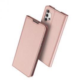 """Rožinis-auksinis atverčiamas dėklas Samsung Galaxy A325 A32 4G """"Dux Ducis Skin Pro"""""""
