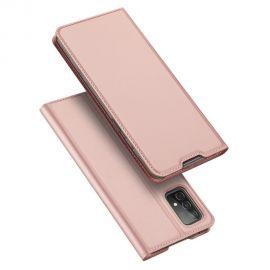 """Rožinis-auksinis atverčiamas dėklas Samsung Galaxy A525 A52 / A526 A52 5G """"Dux Ducis Skin Pro"""""""