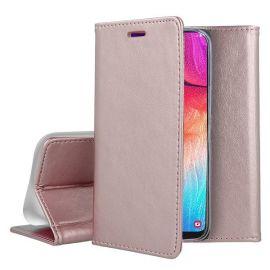 """Rožinis-auksinis atverčiamas dėklas Samsung Galaxy A705 A70 """"Smart Magnetic"""""""