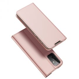 """Rožinis-auksinis atverčiamas dėklas Samsung Galaxy A725 A72 / A726 A72 5G """"Dux Ducis Skin Pro"""""""