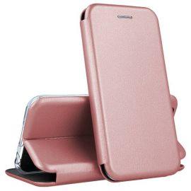 """Rožinis-auksinis atverčiamas dėklas Samsung Galaxy G930 S7 """"Book Elegance"""""""