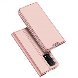 """Rožinis-auksinis atverčiamas dėklas Samsung Galaxy Xiaomi Mi 10T / Mi 10T Pro """"Dux Ducis Skin Pro"""""""