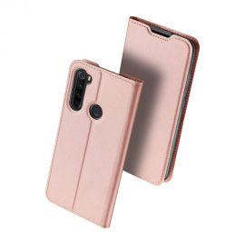 """Rožinis-auksinis atverčiamas dėklas Xiaomi Redmi Note 8 """"Dux Ducis Skin Pro"""""""