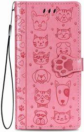 """Rožinis dėklas Xiaomi Redmi 9 """"Cat-Dog"""""""