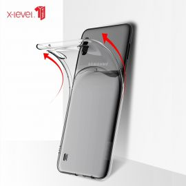 "Skaidrus dėklas Samsung Galaxy A105 A10 ""X-level Antislip"""