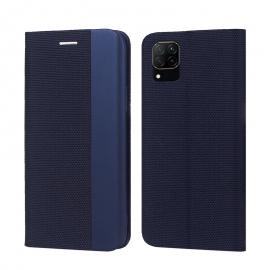 "Tamsiai mėlynas atverčiamas dėklas Huawei P40 Lite / Nova 6 SE / Nova 7i ""Smart Senso"""
