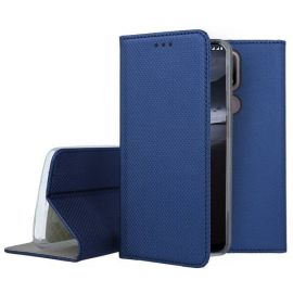 """Tamsiai mėlynas atverčiamas dėklas Nokia 2.4 """"Smart Magnet"""""""