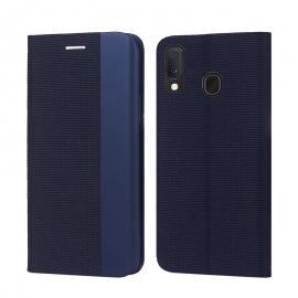 "Tamsiai mėlynas atverčiamas dėklas Samsung Galaxy A202 A20e ""Smart Senso"""