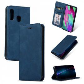 """Tamsiai mėlynas atverčiamas dėklas Samsung Galaxy A405 A40 """"Business Style"""""""