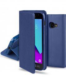 """Tamsiai mėlynas atverčiamas dėklas Samsung Galaxy G390 Xcover 4 / 4S """"Smart Magnet"""""""