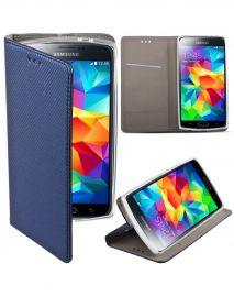 """Tamsiai mėlynas atverčiamas dėklas Samsung Galaxy G900 S5 """"Smart Magnet"""""""