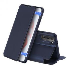 """Tamsiai mėlynas atverčiamas dėklas Samsung Galaxy G996 S21 Plus 5G """"Dux Ducis Skin X"""""""