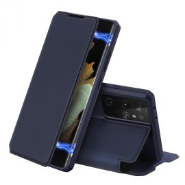 """Tamsiai mėlynas atverčiamas dėklas Samsung Galaxy G998 S21 Ultra 5G """"Dux Ducis Skin X"""""""