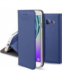 """Tamsiai mėlynas atverčiamas dėklas Samsung Galaxy J320 J3 2016 """"Smart Magnet"""""""