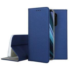 """Tamsiai mėlynas atverčiamas dėklas Sony Xperia 1 / XZ4 """"Smart Magnet"""""""