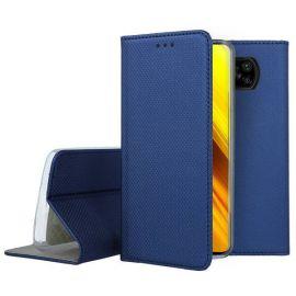 "Tamsiai mėlynas atverčiamas dėklas Xiaomi Poco X3 / Poco X3 NFC / Poco X3 Pro ""Smart Magnet"""