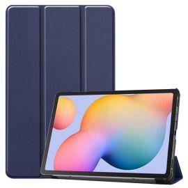 """Tamsiai mėlynas dėklas Samsung P610 / P615 Tab S6 Lite 10.4 """"Smart Leather"""""""