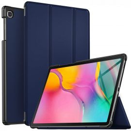 "Tamsiai mėlynas dėklas Samsung T720 / T725 Tab S5e ""Smart Leather"""