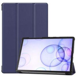 """Tamsiai mėlynas dėklas Samsung T860 / T865 Tab S6 10.5 """"Smart Leather"""""""
