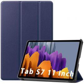 """Tamsiai mėlynas dėklas Samsung T870 / T875 Tab S7 11 """"Smart Leather"""""""