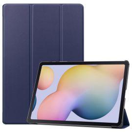 """Tamsiai mėlynas dėklas Samsung T970 / T976 Tab S7 Plus 12.4 """"Smart Leather"""""""