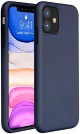 """Tamsiai mėlynas silikoninis dėklas Apple iPhone 11 """"Liquid Silicone"""" 1.5mm"""
