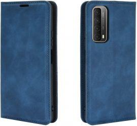 """Tamsiai mėlynos spalvos atverčiamas dėklas Huawei P Smart 2021 """"Business Style"""""""