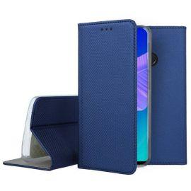 """Tamsiai mėlynos spalvos atverčiamas dėklas Huawei P40 Lite E / Y7 P """"Smart Magnet"""""""