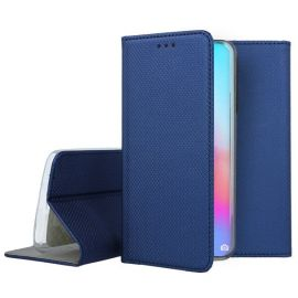 """Tamsiai mėlynos spalvos atverčiamas dėklas Huawei P40 Pro """"Smart Magnet"""""""