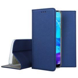 """Tamsiai mėlynos spalvos atverčiamas dėklas Huawei Y5 2019 """"Smart Magnet"""""""