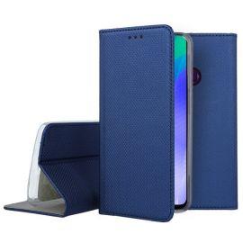 """Tamsiai mėlynos spalvos atverčiamas dėklas Huawei Y6P """"Smart Magnet"""""""