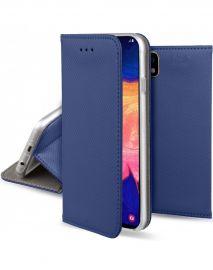 """Tamsiai mėlynos spalvos atverčiamas dėklas Samsung Galaxy A105 A10 """"Smart Magnet"""""""