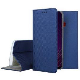 """Tamsiai mėlynos spalvos atverčiamas dėklas Samsung Galaxy A20s """"Smart Magnet"""""""