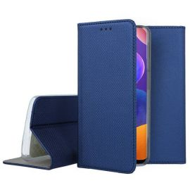 """Tamsiai mėlynos spalvos atverčiamas dėklas Samsung Galaxy A31 """"Smart Magnet"""""""