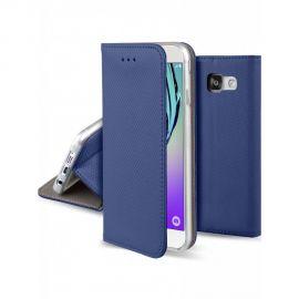 """Tamsiai mėlynos spalvos atverčiamas dėklas Samsung Galaxy A310 A3 2016 """"Smart Magnet"""""""