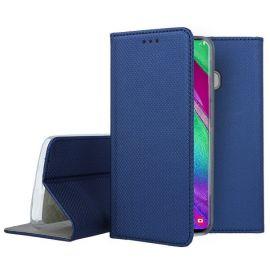 """Tamsiai mėlynos spalvos atverčiamas dėklas Samsung Galaxy A405 A40 """"Smart Magnet"""""""