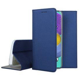 """Tamsiai mėlynos spalvos atverčiamas dėklas Samsung Galaxy A51 5G """"Smart Magnet"""""""