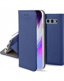 """Tamsiai mėlynos spalvos atverčiamas dėklas Samsung Galaxy G970 S10e """"Smart Magnet"""""""