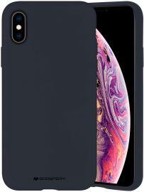 """Tamsiai mėlynos spalvos dėklas Apple iPhone X / XS  """"Mercury Silicone"""""""